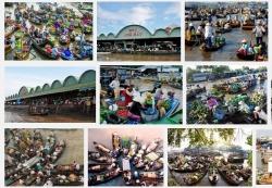Chợ nổi Ngã Bảy - Nơi mua sắm nổi tiếng ở Hậu Giang