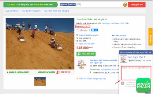 Tin đăng chi tiết về Tour Phan Thiết được đăng tin chào bán